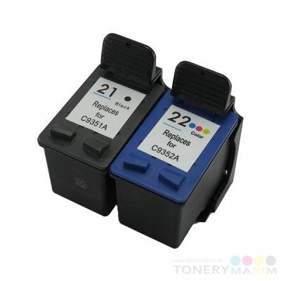 HP - Náplne HP no. 21XL black + HP no. 22XL color ( HP C9352A + HP C9351AE) - dvojbalenie alternatívnych náplní