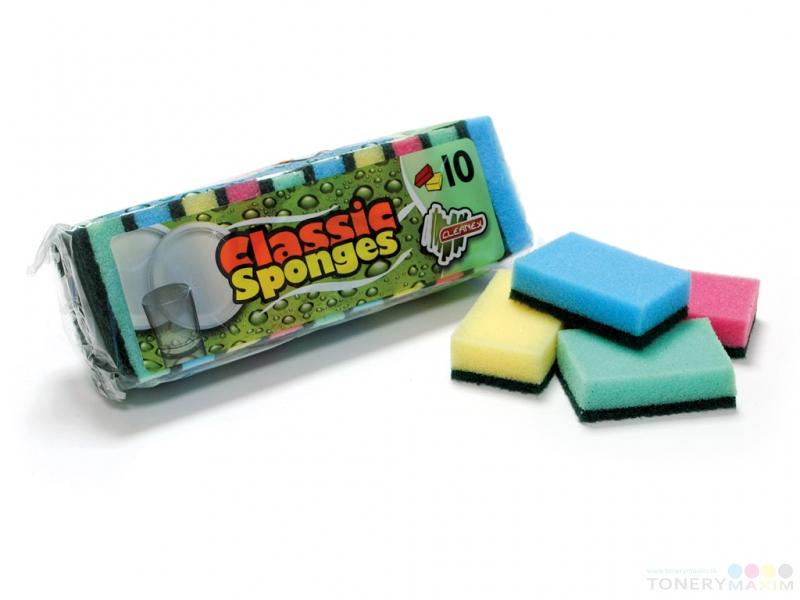 Ostatné - Špongia na riad CLASSIC 10 kusov