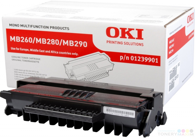 OKI - Toner OKI 01239901 - originálny toner pre OKI MB260/280/290